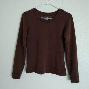 Patagonia Brown Long Sleeves Top Pullover S